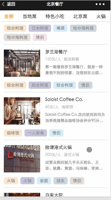 微信小程序精品demo:余味全球精选餐厅