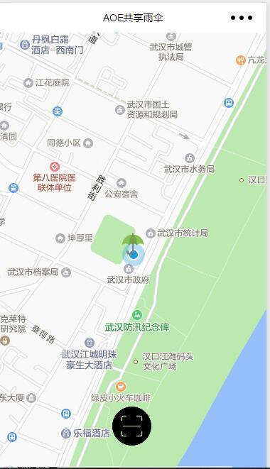 微信小程序MAP学习用demo:共享雨伞:仿摩拜扫码开车